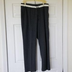 Jones New York Womens Sport Grey Drawstring Pants